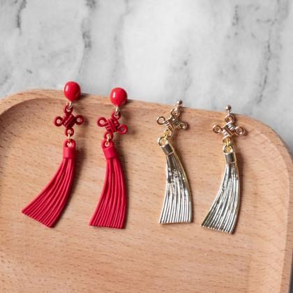 Chinese Knot Tassel Earring