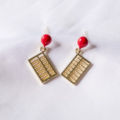 Abacus Abundance Wealth Earring
