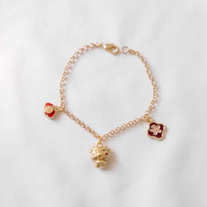 Prosperous  Fu 福 Ox Year Bracelet
