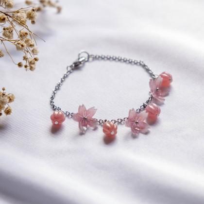 Haru Hana-Pink Sakura Bracelet