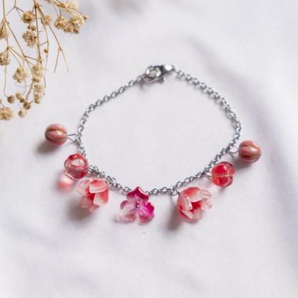 Haru Hana-Rose Red Bracelet