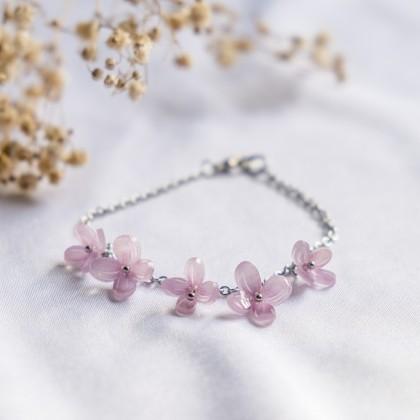 Haru Hana-Hydrangea Pink Bracelet