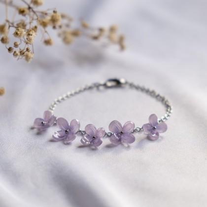 Haru Hana-Hydrangea Purple Bracelet
