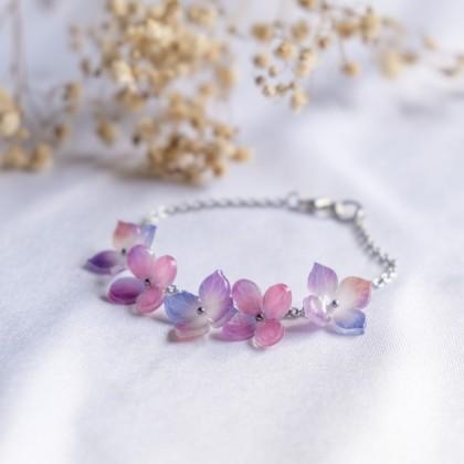 Haru Hana-Osmanthus Purple Lilac Bracelet