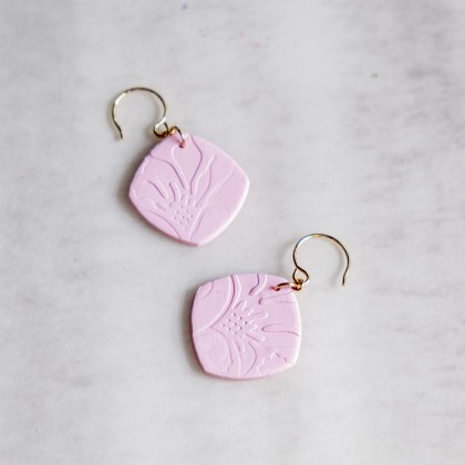 First Baby Pink #5 Polymer Clay Earring