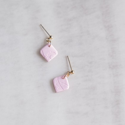 First Baby Pink #7 Polymer Clay Earring