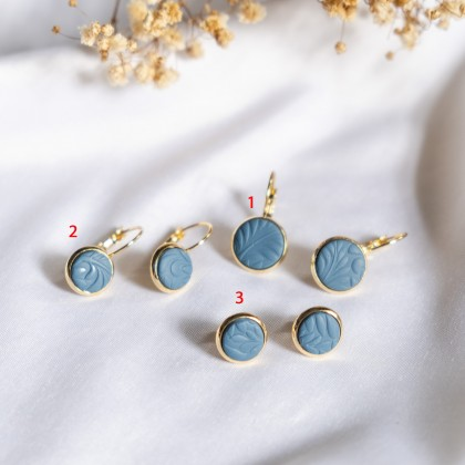 Instagrammable Tone #4 Texture Polymer Clay  Earring