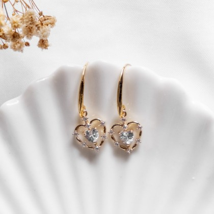 Self Love Sparkly Gold Earring